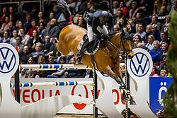 BRINKMANN Marius (GER), Cidan<br /> - Stechen-<br /> Grand Prix von Volkswagen<br /> Int. jumping competition over two rounds (1.55 m) - CSI3*<br /> Comp. counts for the LONGINES Rankings<br /> Braunschweig - Classico 2020<br /> 08. März 2020<br /> © www.sportfotos-lafrentz.de/Stefan Lafrentz