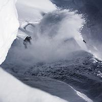 Travis Parker, Chamonix, France, during the Transworld Snowboarding story shoot