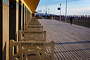Les Planches - boardwalk in Deauville, Normandy, France