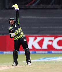 Clyde Fortuin (wk) of the Warriors during the T20 Challenge cricket match between the Lions and the Warriors at the Kingsmead stadium in Durban, KwaZulu Natal, South Africa on the 4th December 2016<br /> <br /> Photo by:   Steve Haag / Real Time Images