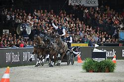 Exell Boyd, (AUS)<br /> FEI World Cup Driving<br /> DB Schenker German Master<br /> Stuttgart - German Masters 2015<br /> © Hippo Foto - Stefan Lafrentz