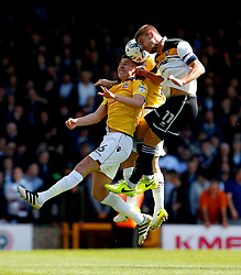 Josh Vela of Bolton Wanderers challenges Sam Foley of Port Vale  - Mandatory by-line: Matt McNulty/JMP - 22/04/2017 - FOOTBALL - Vale Park - Stoke-on-Trent, England - Port Vale v Bolton Wanderers - Sky Bet League One