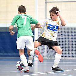 BRISBANE, AUSTRALIA - NOVEMBER 14:  during the QLD Futsal Junior Superliga match between Elitefoot u9 White and u9 Carina Futsal Club Force at Anna Meares Velodrome on November 14, 2020 in Brisbane, Australia. (Photo by Patrick Kearney)