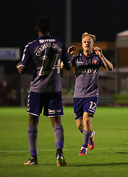 Charlton Athletic's Ben Reeves (right) celebrates scoring his side's first goal of the game with team mate Regan Charles-Cook