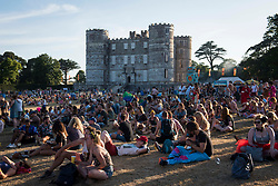 General view of Lulworth Castle and festival goers during Bestival 2018 Lulworth Castle - Wareham. Picture date: Saturday 4th August 2018. Photo credit should read: David Jensen/EMPICS Entertainment