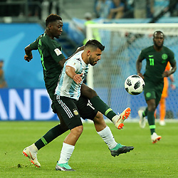 June 26, 2018 - St. Petersburg, Russia - June 26, 2018, Russia, St. Petersburg, FIFA World Cup 2018, First round, Group D, Third round. Football match of Nigeria - Argentina at the stadium of St. Petersburg. Player of the national team Sergio Aguero (Credit Image: © Russian Look via ZUMA Wire)