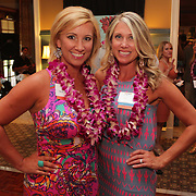 Molly Malone, left, and Holly Shaw pose for a photo Saturday August 2, 2014 during Pipeline to a Cure, a benefit for Cystic Fibrosis at the Country Club of Landfall in Wilmington, N.C. (Jason A. Frizzelle)