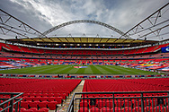 General view of Wembley stadium during the EFL Sky Bet League 1 Play Off Final match between Oxford United and Wycombe Wanderers at Wembley Stadium, London, England on 13 July 2020.