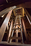 Bell tower of Church of Vilupulli on Chiloe Island, Chile