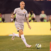 MEADOWLANDS, NEW JERSEY- August 7:   Rick Karsdorp #2 of AS Roma in action during the Real Madrid vs AS Roma International Champions Cup match at MetLife Stadium on August 7, 2018 in Meadowlands, New Jersey. (Photo by Tim Clayton/Corbis via Getty Images)
