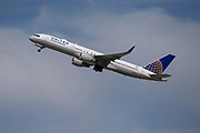 A United Airlines Boeing 757-200 takes off from Los Angeles International Airport (LAX) on Friday, February 28, 2020 in Los Angeles. (Brandon Sloter/Image of Sport)