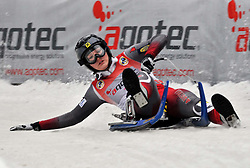 27.02.2010, Rodelbahn, Garmisch Partenkirchen, GER, WC Finale Naturbahnrodeln, im Bild  Melanie Batkowski, AUT, EXPA Pictures © 2010, PhotoCredit: EXPA/ H. Sobe