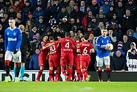 Football - 2019 / 2020 UEFA Europa League - Round of Sixteen, First Leg: Rangers vs. Bayer 04 Leverkusen<br /> <br /> Kai Havertz of Bayer Leverkusen celebrates after scoring a penalty to make it 1-0, at Ibrox Stadium, Glasgow.<br /> <br /> COLORSPORT/BRUCE WHITE