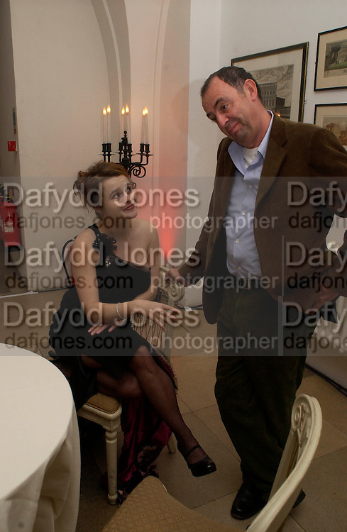 Party to celebrate the publication of Olivia Joules and the Overactive Imagination, by Helen Fielding, royal Unitel Services Institute, whitehall. 54 November 2003. © Copyright Photograph by Dafydd Jones 66 Stockwell Park Rd. London SW9 0DA Tel 020 7733 0108 www.dafjones.com
