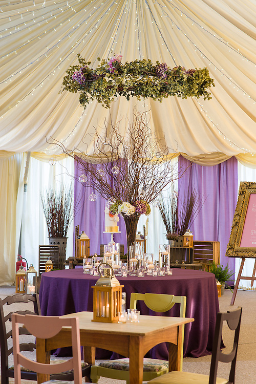 The Lodge at Carfraemills wedding marquee styled by wedding planning and prop hire company 'Get Knotted'. The company, run by Lindsey Hunter from her base in the Scottish Borders, can design, style organise and provide all the props and items needed for a wedding.<br /> <br /> Get Knotted, Ladyrig Stables, Heiton, Kelso<br /> Scottish Borders, TD5 8JP. <br /> T: 01573 450 685. www.get-knotted.net<br /> <br /> The Lodge at Carfraemill, Lauder, Scottish Borders,<br /> TD2 6RA. T: 01578 750750.  www.carfraemill.co.uk