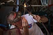 Welding repair on Oregon Aviation Historical Society's Stinson Reliant.