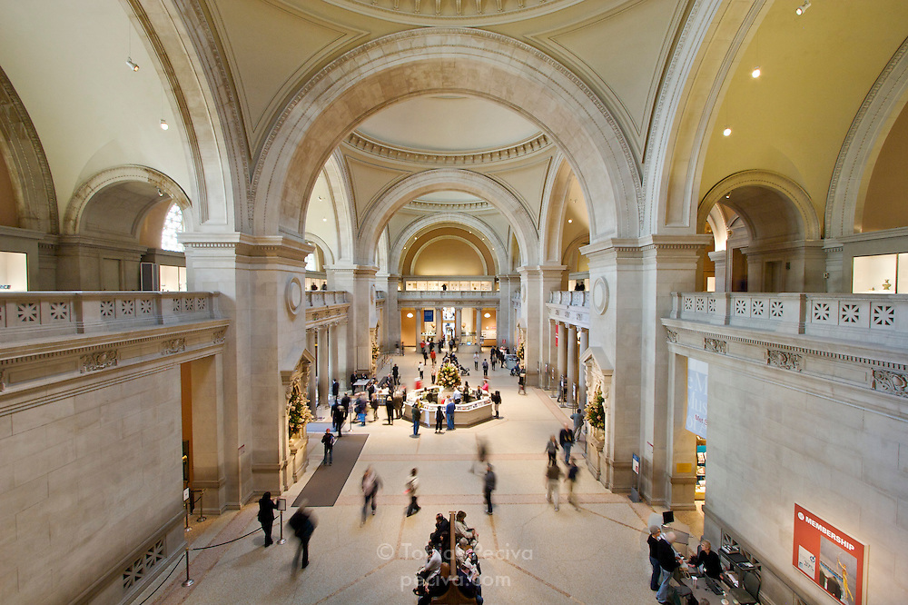 Great Hall of the Metropolitan Museum of Art in Manhattan, New York.