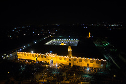 June 21, 2017 - Cairo, Egypt - Muslims gather to pray during the Laylat Al Qadr (Night of Destiny) at Amr ibn al-As Mosque in Cairo, Egypt, Thursday 22 June 2017. In Islamic belief Laylat Al Qadr, one of the holiest nights in the holy Muslim month of Ramadan, marks the night when the first verses of the Quran were revealed to the Prophet Muhammad. (Credit Image: © Fayed El-Geziry/NurPhoto via ZUMA Press)
