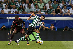 September 27, 2017 - Na - Lisbon, 09/23/2017 - Sporting Clube de Portugal received FC Barcelona tonight at the Alvalade stadium as part of Group D of Group D of the 2017/2018 Champions League. Nélson Semedo; Bruno Fernandes  (Credit Image: © Atlantico Press via ZUMA Wire)