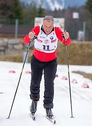 22.03.2014, Gschwandtkopf, Seefeld, AUT, 8. World Star Ski Event, Star Team for Children, Biathlon, im Bild Ricardo Patrese (Formel 1 Legende) // during the Biathlon of Star Team for Children of 8th World Star Ski Event at the Gschwandtkopf course in Seefeld, Austria on 2014/03/22. EXPA Pictures © 2014, PhotoCredit: EXPA/ Johann Groder