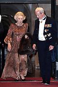 Koning Willem-Alexander en koningin Maxima  ontvangen het Corps Diplomatique voor diner op het Paleis op de Dam.<br /> <br /> King Willem-Alexander and Queen Maxima receive the Corps Diplomatique for dinner at the Palace on the Dam.<br /> <br /> Op de foto / On the photo: <br /> <br />  Prinses Beatrix / Princess Beatrix