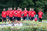 Wales players arrive for the  Wales football team training at the Vale Resort in Hensol, near Cardiff , South Wales on Tuesday 29th August 2017.  the team are preparing for their FIFA World Cup qualifier home to Austria this weekend.  pic by Andrew Orchard, Andrew Orchard sports photography