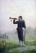 The Clarion':  French army trumpeter.   Alexandre Protais (1826-1890) French painter and etcher. France Military  Uniform Music Instrument Wind Brass
