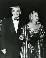 1959 Mr and Mrs Clark Gable at a Grauman's Chinese Theater movie premiere