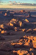 Monument Valley, sunset, aerial, Arizona/Utah