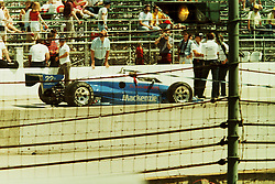 Indianapolis Time Trials, May 1987<br /> #22 Dick Simon<br /> <br /> A scan from an old photo or slide from the collection of Alan and Becky Look dated 1987 and 1988.