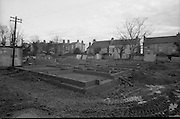Brabazon House Construction..1986..11.12.1986..12.11.1986..11th December 1986..The Brabazon Trust commissioned the building of a new care home at Guilford Road, Sandyford,Dublin. A series of pictures were taken to show the outline construction of the building. It was hoped that the building would be ready for occupation in early 1987...Picture shows the foundations are in and the walls starting to rise at the construction site in Sandyford.