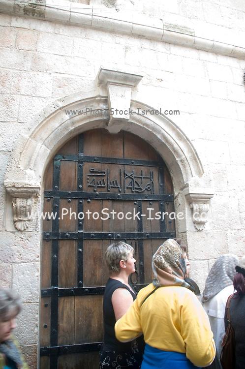 Israel, Jerusalem Old City, 6th Station of Via Dolorosa Veronica wipes the face of Jesus