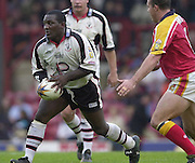 © Intersport Images .Photo Peter Spurrier.12/05/2002.Sport - Rugby League.London Broncos vs Widnes Vikings.Antony Farrell....