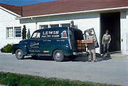 CS03597 Lewis Poultry Farm, Yelm, Wash. delivery van. 1954 Photo by Don McQuade, Seattle.