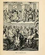 Chinese play engraving on wood From The human race by Figuier, Louis, (1819-1894) Publication in 1872 Publisher: New York, Appleton