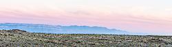 Sunrise on Sierra del Carmens, Big Bend National Park, Texas, USA.