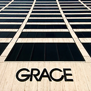W.R. Grace Building in Manhattan at 1114 Avenue of the Americas and 42nd Street. Architect is Skidmore Owings & Merrill, Gordan Bunshaft.