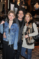 AMY WEBSTER, her father STEPHEN WEBSTER and ASSIA WEBSTER at a reception hosted by Ralph Lauren Double RL and Dexter Fletcher before a private screening of Wild Bill benefitting FilmAid held at RRL 16 Mount Street, London on 26th March 2012.