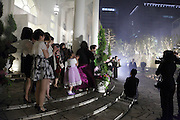 applause after fireworks at a wedding celebration Japan