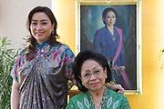 Martha Tilaar (right), founder of the Martha Tilaar Group, and her daughter Wulan Tilaar Widarto pose for a portrait at Martha Tilaar's office in East Jakarta, Indonesia, on July 2, 2015.