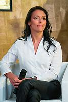 "Spainsh paralimpic Teresa Perales during the presentation of ""Dia Cero"" the new tv show of Moviestar #0 at Telefonica Store in Madrid, Spain. October 20, 2016. (ALTERPHOTOS/Rodrigo Jimenez)"