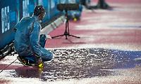 BHUBANESWAR -  Hockey World League finals , Semi Final . Argentina v India. Ballboy, ballenjongen, .   COPYRIGHT KOEN SUYK