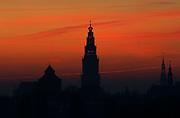 The Martinitoren in Groningen at sunrise // De Martinitoren bij zonsopkomst.