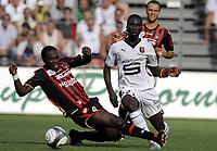 Fotball<br /> Frankrike<br /> Foto: DPPI/Digitalsport<br /> NORWAY ONLY<br /> <br /> FOOTBALL - FRENCH CHAMPIONSHIP 2009/2010 - L1 - OGC NICE v STADE RENNAIS - 16/08/2009<br /> RENNES<br /> <br /> ISMAEL BANGOURA (REN) / ONYEKACHI APAM (NIC)