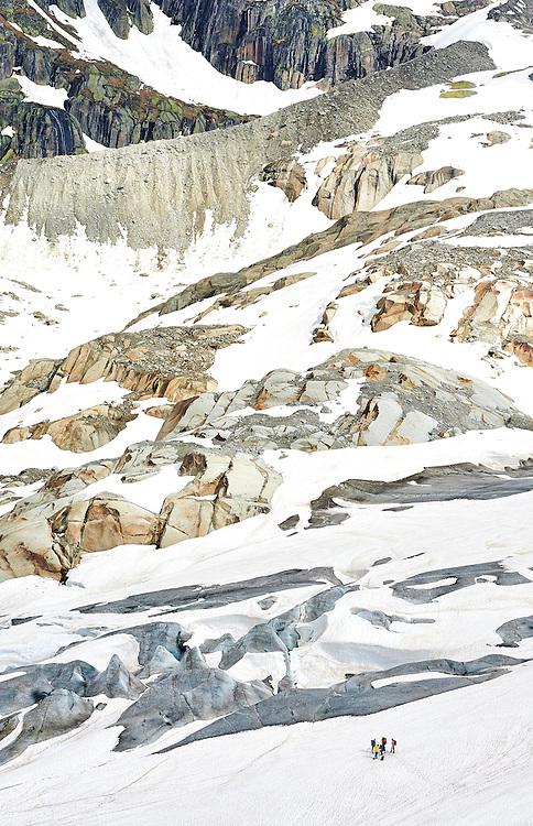 Switzerland - Rhone Glacier Hikers