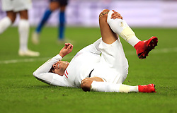 England's Dele Alli on the floor during the International Friendly at Wembley Stadium, London.