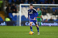 Aron Gunnarsson of Cardiff city in action.Skybet football league championship match, Cardiff city v Blackburn Rovers at the Cardiff city stadium in Cardiff, South Wales on Saturday 2nd Jan 2016.<br /> pic by Andrew Orchard, Andrew Orchard sports photography.