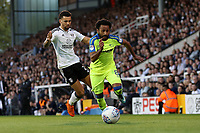 LONDON, ENGLAND - MAY 14:LONDON, ENGLAND - MAY 14:Ikechi Anya, of Derby County gets past Fulham's Ryan Fredericks