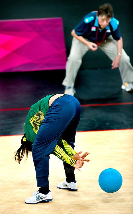 Engeland, Londen, 31-08-2012.<br /> Paralympische Spelen.<br /> Goalbal, Vrouwen.<br /> Brazilie - China.<br /> Foto : Klaas Jan van der Weij