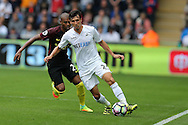 Jack Cork of Swansea city in action.Premier league match, Swansea city v Manchester city at the Liberty Stadium in Swansea, South Wales on Saturday 24th September 2016.<br /> pic by Andrew Orchard, Andrew Orchard sports photography.